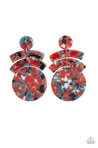 Paparazzi Jewelry Earrings In The HAUTE Seat - Orange