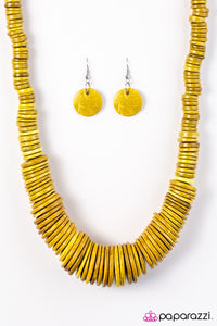 Paparazzi Jewelry Wooden SHORE Thing - Yellow