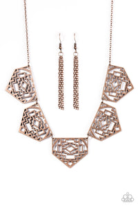 Paparazzi Jewelry Necklace Hacienda Heights - Copper