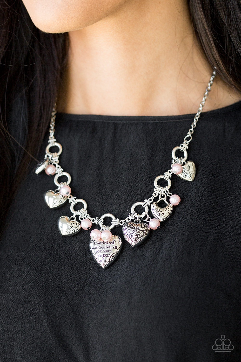 Paparazzi Jewelry Necklace Totally Twitterpated - Pink