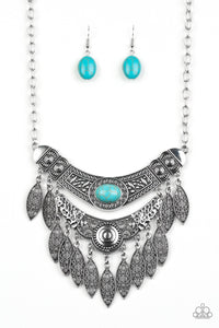 Paparazzi Jewelry Necklace Island Queen - Blue