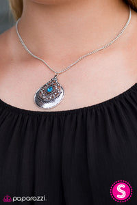 Paparazzi Jewelry Necklace One In A MEDALLION - Blue