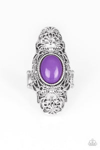 Paparazzi Jewelry Ring Flair for the Dramatic - Purple