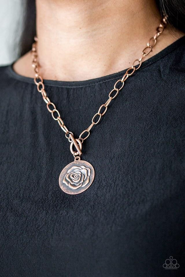Paparazzi Jewelry Necklace Beautifully Belle Copper