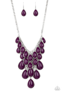 Paparazzi Jewelry Necklace Shop Til You TEARDROP - Purple