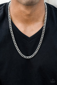 Paparazzi Jewelry Men The Game CHAIN-ger - Silver