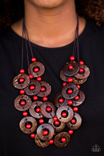 Load image into Gallery viewer, Paparazzi Jewelry Wooden Bora Bora Beauty - Red