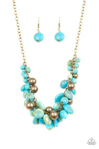 Paparazzi Jewelry Necklace Full Out Fringe - Blue