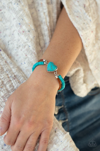 Paparazzi Jewelry Bracelet Charmingly Country - Blue
