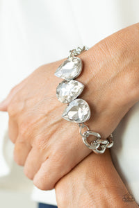 Paparazzi Jewelry Bracelet Bring Your Own Bling - White
