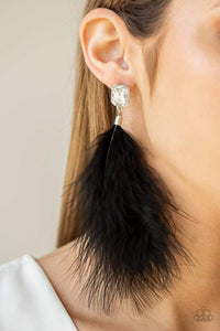 Paparazzi Jewelry Earrings The Showgirl Must Go On Black