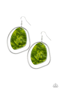 Paparazzi Jewelry Earrings HAUTE Toddy - Green