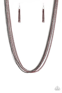 Paparazzi Jewelry Necklace Colorful Calamity - Red