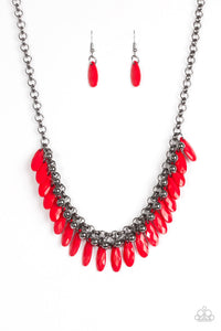 Paparazzi Jewelry Necklace Jersey Shore - Red