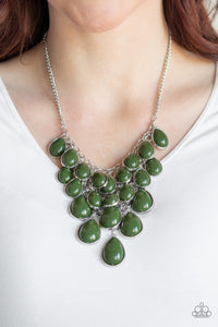 Paparazzi Jewelry Necklace Shop Til You TEARDROP - Green