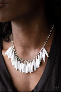 Paparazzi Jewelry Necklace Full Of Flavor - White
