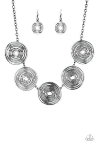 Paparazzi Jewelry Necklace SOL-Mates - Black