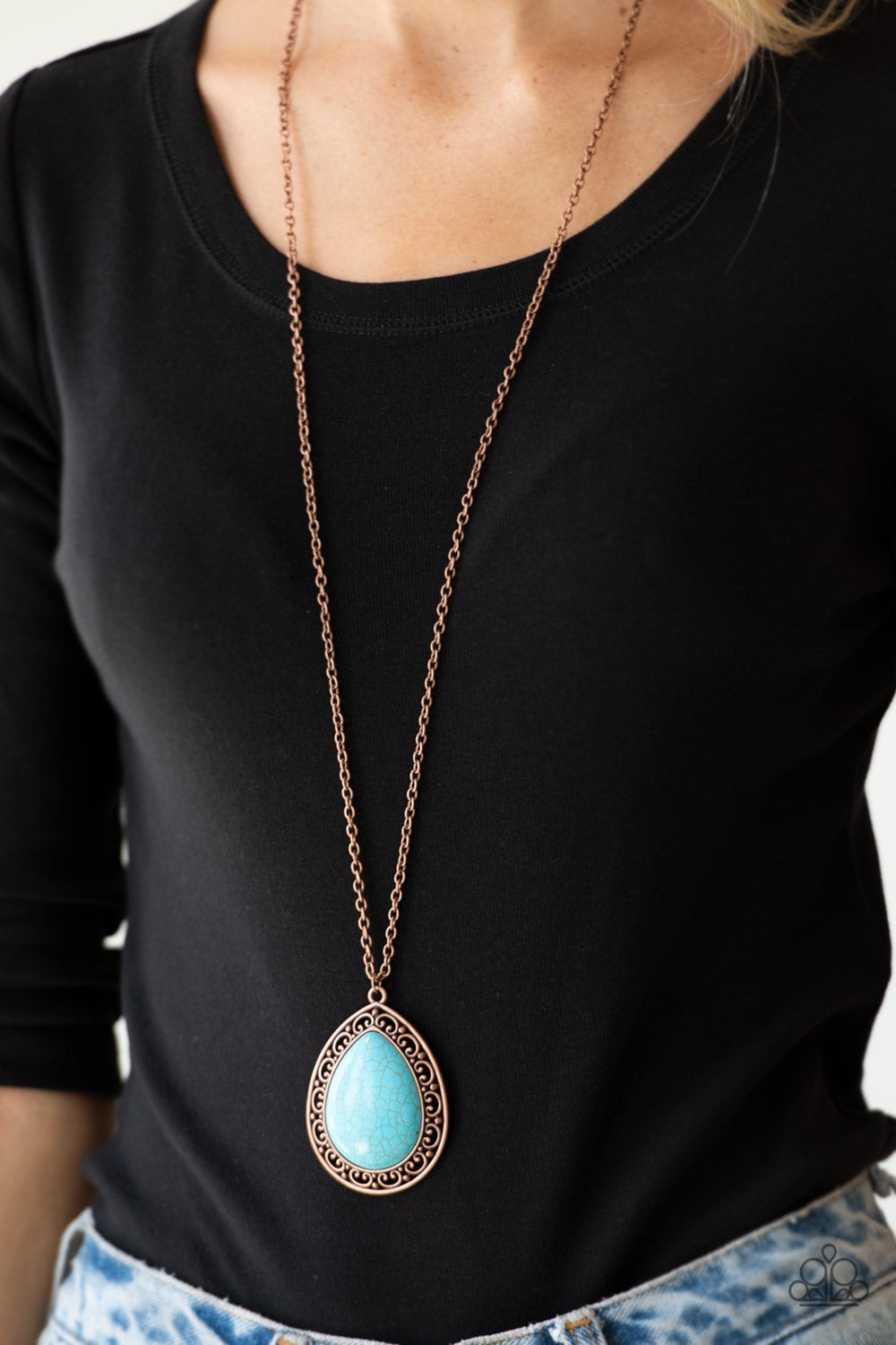 Paparazzi Jewelry Necklace Full Frontier - Copper