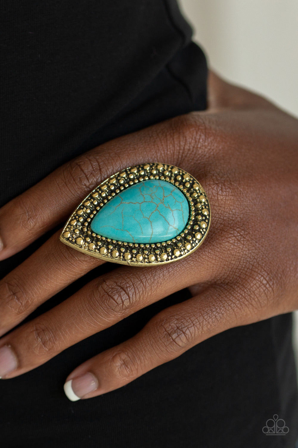 Paparazzi Jewelry Ring Santa Fe Storm - Brass