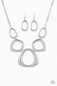 Paparazzi Jewelry Necklace Backstreet Bandit - Silver