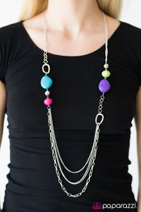 Paparazzi Jewelry Necklace Caribbean Rainbow - Multi