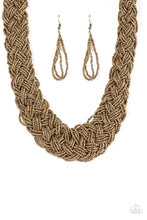 Load image into Gallery viewer, Paparazzi Jewelry Necklace Mesmerizingly Mesopotamia - Brass