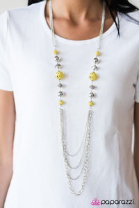 Paparazzi Jewelry Necklace Balloon Ride - Yellow
