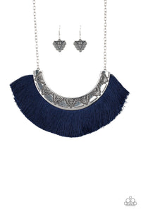 Paparazzi Jewelry Necklace Might and MANE - Blue