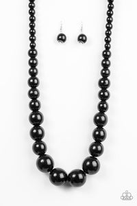 Paparazzi Jewelry Wooden Effortlessly Everglades - Black