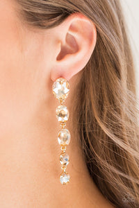 Paparazzi Jewelry Earrings Red Carpet Radiance - Gold