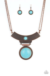 Paparazzi Jewelry Necklace Lasting EMPRESS-ions - Copper