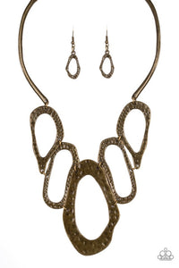 Paparazzi Jewelry Necklace Prime Prowess - Brass