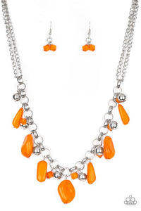 Paparazzi Jewelry Necklace Grand Canyon Grotto - Orange
