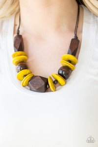 Paparazzi Jewelry Wooden Pacific Paradise - Yellow