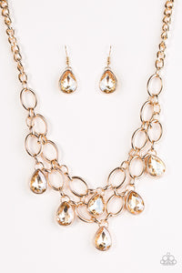 Paparazzi Jewelry Necklace Show-Stopping Shimmer - Gold