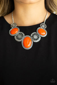 Paparazzi Jewelry Necklace The Medallion-aire - Orange
