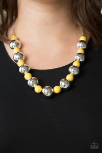 Paparazzi Jewelry Necklace Top Pop - Yellow