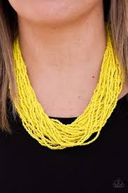 Paparazzi Jewelry Necklace The Show Must CONGO On! - Yellow