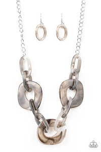 Paparazzi Jewelry Necklace Courageously Chromatic - Silver