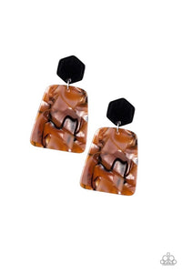 Paparazzi Jewelry Earrings Majestic Mariner - Brown