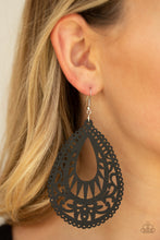 Load image into Gallery viewer, Paparazzi Jewelry Earrings Zesty Zen - Black