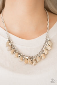 Paparazzi Jewelry Necklace Rocky Shores - Brown