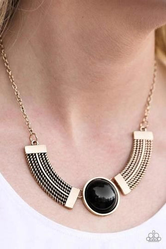 Paparazzi Jewelry Necklace Egyptian Spell Black