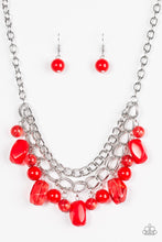 Load image into Gallery viewer, Paparazzi Jewelry Necklace Brazilian Bay - Red