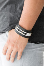 Load image into Gallery viewer, Paparazzi Jewelry Men Bear Lake Leather Urban Bracelet Black