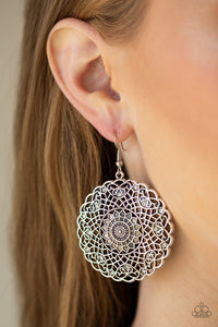 Paparazzi Jewelry Earrings Mandala Mandalay White