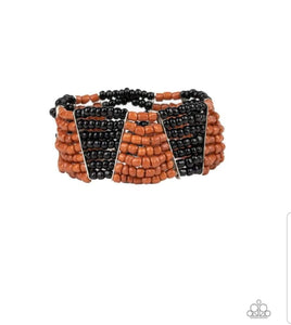 Paparazzi Jewelry Bracelet Outback Outing - Black