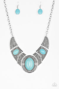 Paparazzi Jewelry Necklace Leave Your LANDMARK - Blue
