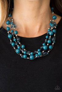 Paparazzi Jewelry Sets Set The World On WIRE - Blue/Wheres The WIRE? - Blue
