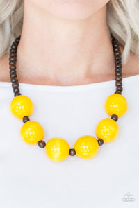 Paparazzi Jewelry Wooden Oh My Miami - Yellow